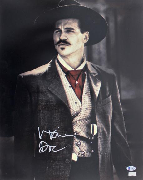 """Val Kilmer Tombstone """"Doc"""" Signed 16x20 Photo BAS Witnessed"""