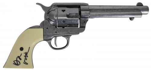 """Val Kilmer Tombstone """"Doc"""" Signed Denix Replica Revolver Prop BAS #D17487"""