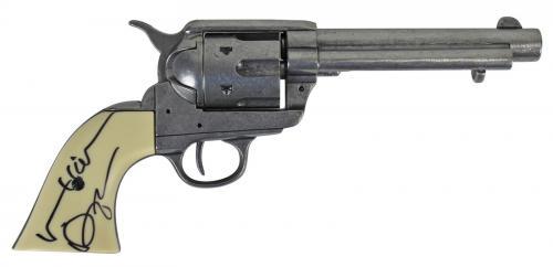 """Val Kilmer Tombstone """"Doc"""" Signed Denix Replica Revolver Prop BAS #D17488"""