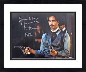"""Val Kilmer Tombstone """"I Have 2 Guns 1 For Each Of You"""" Signed 16x20 Photo BAS"""