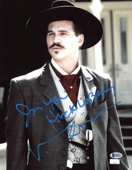 "Val Kilmer Tombstone ""I'm Your Huckleberry"" Signed 11x14 Photo BAS Witnessed 7"