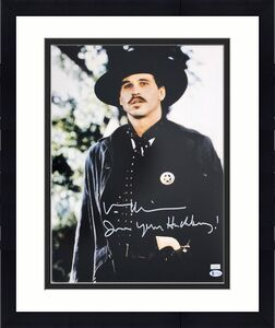 "Val Kilmer Tombstone ""I'm Your Huckleberry"" Signed 16X20 Photo BAS 2"