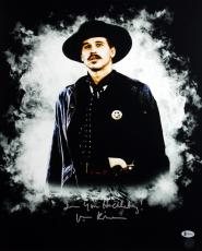"""Val Kilmer Tombstone """"I'm Your Huckleberry"""" Signed 16X20 Photo BAS 3"""
