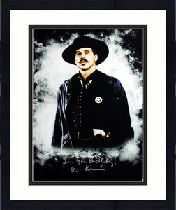 "Val Kilmer Tombstone ""I'm Your Huckleberry"" Signed 16X20 Photo BAS 3"