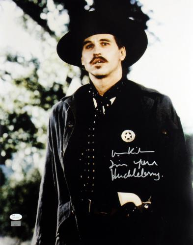 """Val Kilmer Tombstone """"I'm Your Huckleberry"""" Signed 16X20 Photo JSA Witness"""