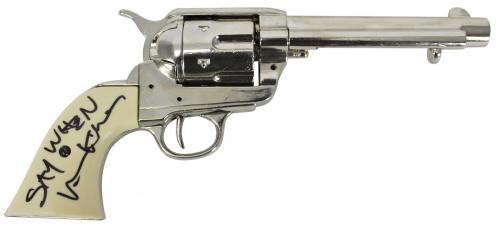 "Val Kilmer Tombstone ""Say When"" Signed Denix Rep Revolver BAS #K90716"
