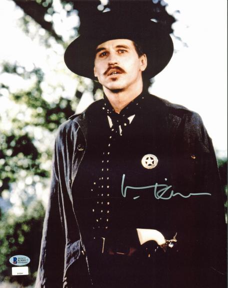 Val Kilmer Tombstone Signed 11x14 Photo BAS