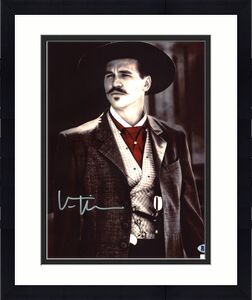 Val Kilmer Tombstone Signed 11x14 Photo BAS Witnessed 3