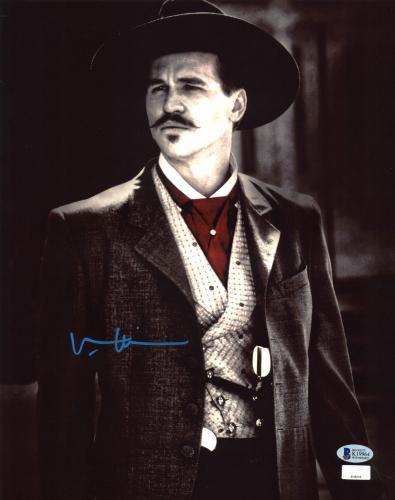 Val Kilmer Tombstone Signed 11x14 Photo BAS Witnessed 4