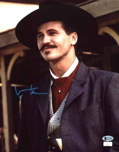Val Kilmer Tombstone Signed 11x14 Photo BAS Witnessed #K19995