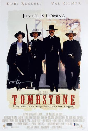 Val Kilmer Tombstone Signed 12x18 Mini Movie Poster Autographed BAS