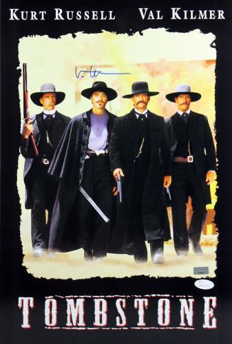 Val Kilmer Tombstone Signed 12x18 Mini Movie Poster JSA Witness 1