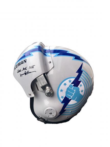 Val Kilmer Top Gun (Cool As Ice) Signed Full Size Aviator Helmet JSA WP516219