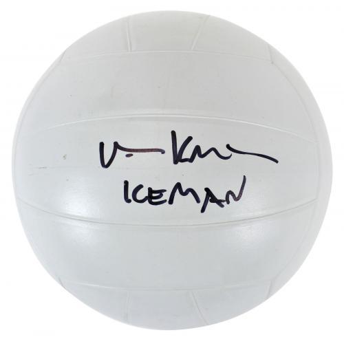 "Val Kilmer Top Gun ""Iceman"" Signed Voit Volleyball BAS #A74332"