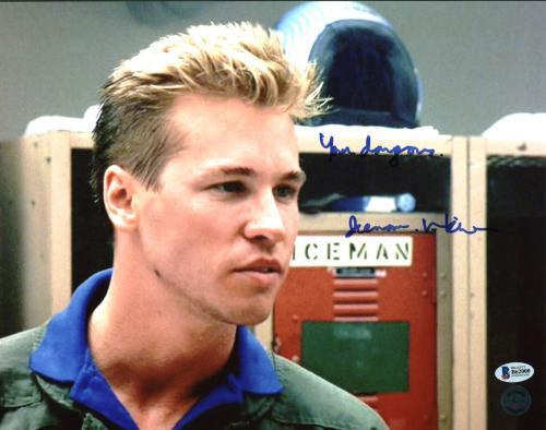 "Val Kilmer Top Gun ""You're Dangerous. Iceman"" Signed 11X14 Photo BAS"