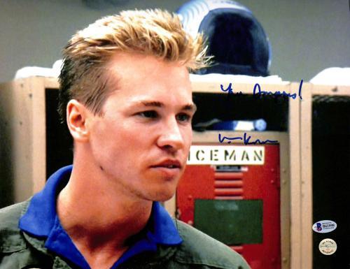 "Val Kilmer Top Gun ""You're Dangerous!"" Signed 11x14 Photo BAS #B61998"
