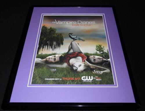 Vampire Diaries 2009 Premiere Framed 11x14 ORIGINAL Advertisement CW