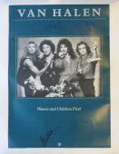 Van Halen (4) Group Signed 23x33 Poster Alex, Eddie, Anthony, Roth PSA/DNA LOA