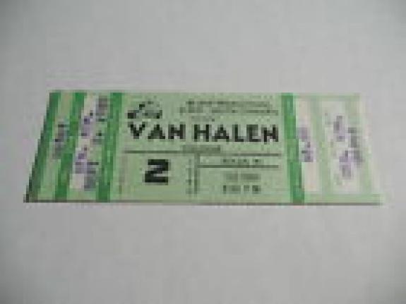 Van Halen 9-2-80 1980 Invasion Tour Un-Used Concert Ticket David Lee Roth Eddie