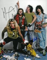 Van Halen Signed Authentic Autographed 11x14 Photo 4 Sigs PSA/DNA #AC06341