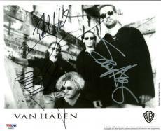 Van Halen Signed Autographed 8x10 Photograph Eddie Alex Hagar PSA/DNA