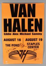 "Van Halen Signed ""The Pond"" Concert Poster – Eddie Van Halen, Alex Van Halen, Michael Anthony, Sammy Hagar (JSA Full LOA)"