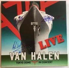 """VAN HALEN Tokyo Dome-Live in Concert"""" 4 LP Box Set- Signed by EDDIE, ALEX, WOLF"""
