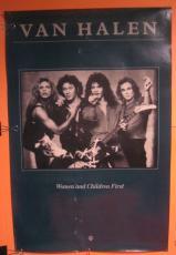 Van Halen Women & Children First 1980 Original Promo Poster Eddie David Lee Roth