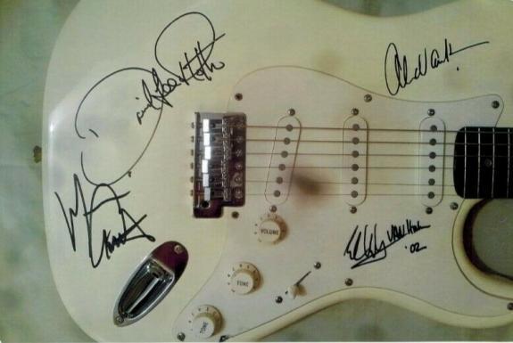 Van Halen X4 Signed Guitar Eddie David Lee Roth Michael Anthony Alex Jsa Coa