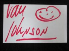 Van Johnson Signed 3x5 Index Card Guaranteed Authentic