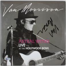Van Morrison Signed Astral Weeks Live Album Cover W/ Vinyl BAS #E44370
