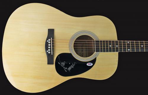 Van Morrison ULTRA RARE Signed Autographed Acoustic Guitar PSA/DNA COA Moondance