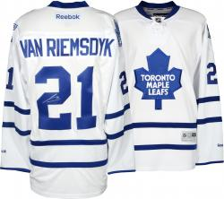James van Riemsdyk Toronto Maple Leafs Autographed Premier Blue Jersey - Mounted Memories
