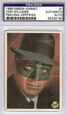 Van Williams Autographed Signed 1966 Green Hornet Card PSA/DNA #83320184