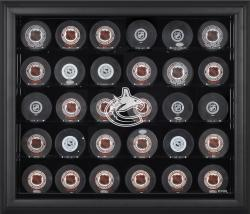 Vancouver Canucks 30-Puck Black Display Case - Mounted Memories