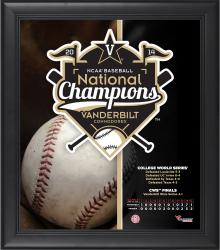 "Vanderbilt Commodores 2014 College World Series Champions Framed 15"" x 17"" Collage"