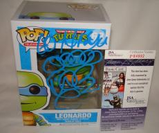Vanilla Ice Rob Van Winkle Signed   Autographed Leonardo Teenage Mutant Ninja Turtles Funko Pop Toy Doll Figurine - JSA