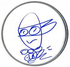 Vanilla Ice Signed Teenage Mutant Ninja Turtles w Art Sketch DrumHead Drum Head