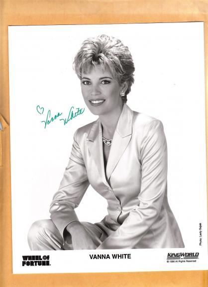 Vanna White-signed photo-15 c - JSA COA