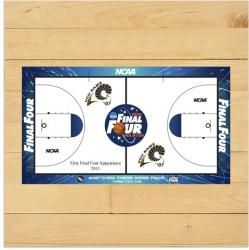 VCU Rams 2011 Men's Final Four Game-Used 6'' x 6'' Court Piece with Floor logo - Mounted Memories