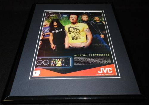 Velvet Revolver 2005 JVC 11x14 Framed ORIGINAL Advertisement Scott Weiland Slash