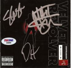 Velvet Revolver Signed Contraband Cd Cover Psa/dna Slash #d58068