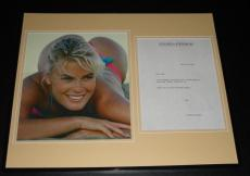 Vendela Kirsebom Signed Framed 1996 Letter & Photo Display