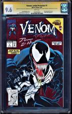 Venom Lethal Protector #1 Cgc 9.6 Ss 5 X's  Stan Lee, Mark Bagley+  #1284783002