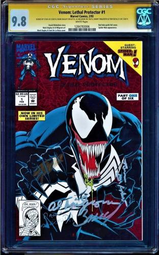 Venom Lethal Protector #1 Cgc 9.8 Ss 5 X's  Stan Lee, Cgc #1284783006