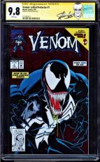 Venom Lethal Protector #1 Cgc 9.8 White Ss Stan Lee New Label Cgc #1227830017