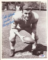 Venton Yablonski Autographed Signed 8x10 Photo Chicago Cardinals PSA/DNA #S43625
