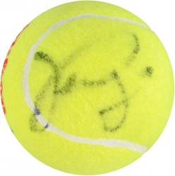 Venus & Serena Williams Dual Autographed US Open Logo Tennis Ball