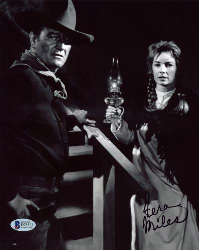 Vera Miles The Searchers Signed 8x10 Photo w/ John Wayne BAS #D78322