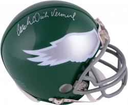 Dick Vermeil Philadelphia Eagles Autographed Riddell Throwback Mini Helmet - Mounted Memories